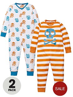 ladybird-toddler-boys-printed-skull-sleepsuits-2-pack