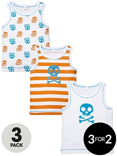 ladybird-toddler-boys-skull-printed-vests-3-pack