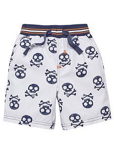ladybird-skull-print-shorts