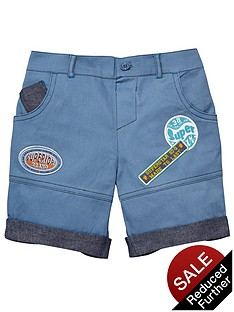 ladybird-badged-canvas-shorts