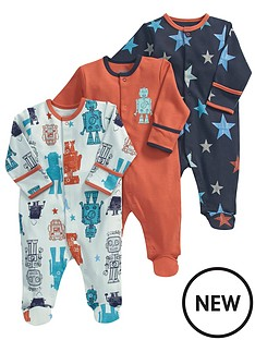 mamas-papas-robot-sleepsuits-3-pack