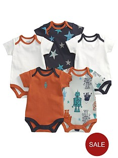 mamas-papas-robot-bodysuits-5-pack