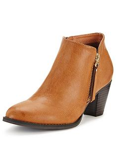 wallis-side-zip-western-ankle-boots