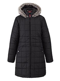 puffa-girls-longline-hooded-coat-black