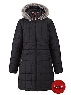 puffa-girls-longline-hooded-coat-black