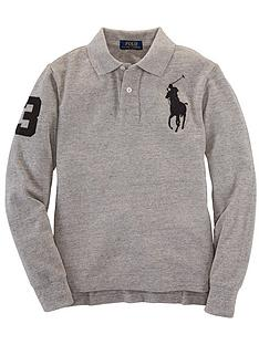 ralph-lauren-long-sleeve-big-pony-logo-polo-grey-marl