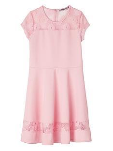 freespirit-cap-sleeve-lace-panel-dress