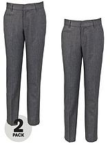 Boys Teflon Coated Coin Pocket Trousers (2 Pack)