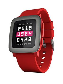 Pebble Time Smart Watch - Red