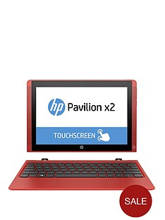 hp-pavilion-x2-10-n002na-intelreg-atomtrade-processor-2gb-ram-32gb-ssd-storage-10-inch-touchscreen-2-in-1-laptop-with-optional-microsoft-office-365-personal-sunset-red