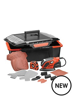 black-decker-ka1000ast-gb-premium-mouse-sander-with-accessories-and-click-and-connect-storage-box