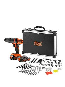black-decker-egbl188bafc-gb-18v-lithium-ion-combi-hammer-drill-with-2-batteries-160-accessories-and-flight-case