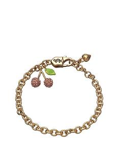 juicy-couture-gold-tone-pave-cherry-charm-bracelet