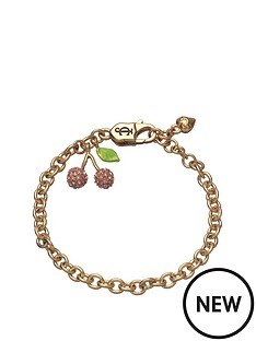 juicy-couture-gold-tone-pave-cherry-charm-bracelet