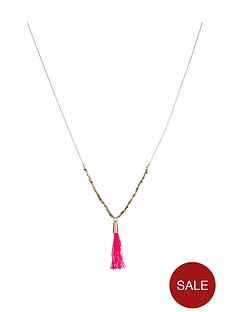 juicy-couture-gold-tone-triple-layer-necklace-with-tassel