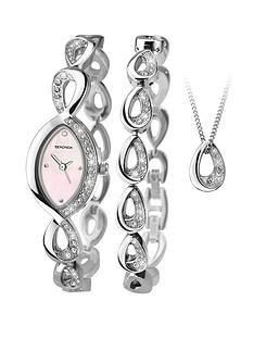 sekonda-silver-tone-pink-dial-crystal-set-watch-bracelet-and-pendant-gift-set