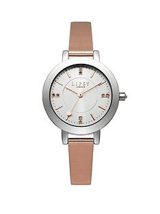lipsy-silver-tone-nude-strap-ladies-watch