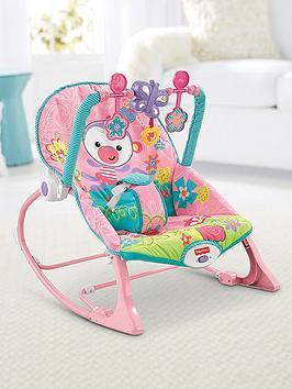 FisherPrice Rainforest Infant To Toddler Rocker  Pink