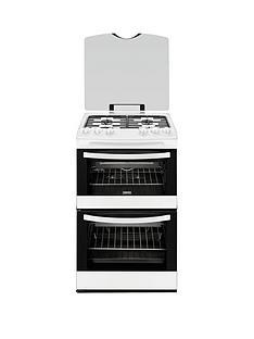 zanussi-zcg43000wa-55-cm-gas-freestanding-double-oven-white