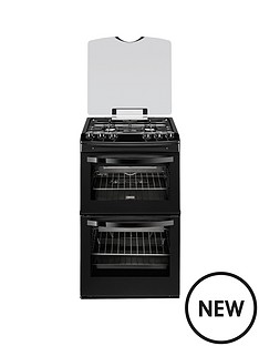 zanussi-zcg43000ba-55-cm-gas-freestanding-double-oven-black