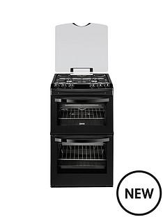 zanussi-zcg43000ba-55-cm-gas-freestanding-double-oven-black