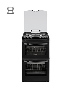 zanussi-zcg43000ba-55cm-freestanding-double-oven-gas-cooker-black