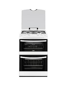 zanussi-zcg63010wa-60-cm-gas-freestanding-double-oven-white