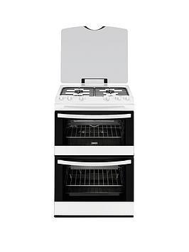 zanussi-zcg63010wa-60cm-gas-freestanding-double-oven-white