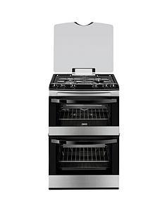zanussi-zcg63010xa-60-cm-gas-freestanding-double-oven-stainless-steel
