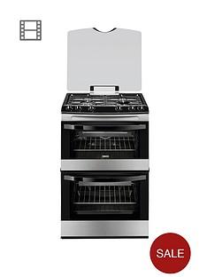 zanussi-zcg63010xa-60cm-gas-freestanding-double-oven-stainless-steel