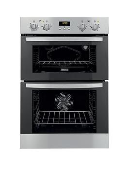 zanussi-zod35511dx-60cm-built-in-double-electric-oven-stainless-steel