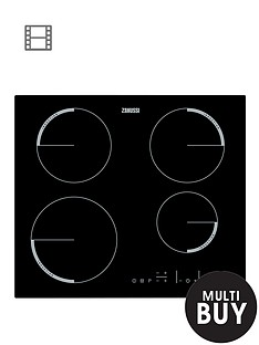 zanussi-zel6640fba-60cm-built-in-electric-hob-black