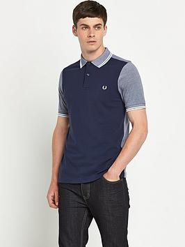 Fred Perry Mens Colour Block Polo Shirt