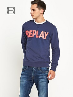 replay-mens-logo-sweater