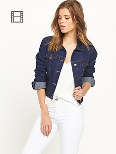 miss-selfridge-dark-denim-jacket