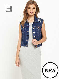 miss-selfridge-denim-gilet