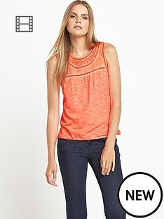 superdry-summer-seeker-blouse-fluoro-coral