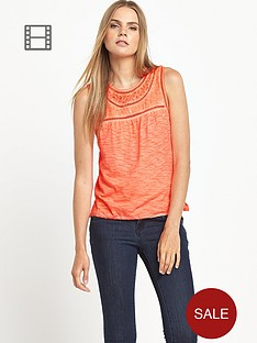 superdry-summer-seeker-blouse-fluoro-coral