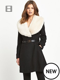 miss-selfridge-faux-fur-trim-collar-coat