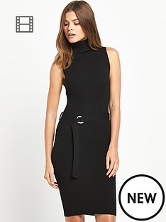 miss-selfridge-roll-neck-sleeveless-midi-dress
