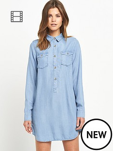 miss-selfridge-tencel-shirt-dress