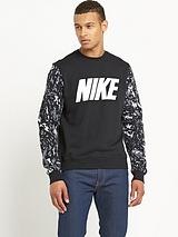 Nike Mens Club Camo Crew Sweatshirt