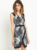 Brush Stroke Bodycon Dress