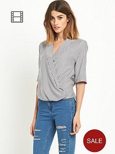 miss-selfridge-stripe-wrap-blouse