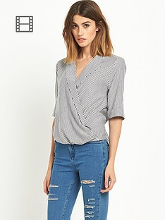 miss-selfridge-stripe-wrap-blouse