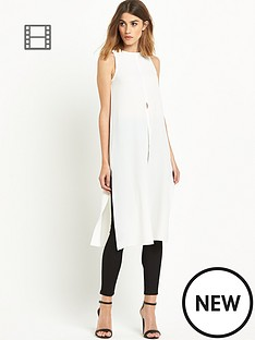 miss-selfridge-split-front-maxi-shell-dress
