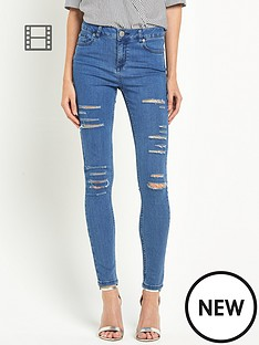 miss-selfridge-lizzie-shredded-pretty-blue-jeans