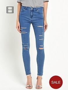 miss-selfridge-lizzie-shredded-pretty-blue-jeans