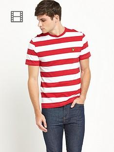 lyle-scott-mens-block-stripe-crew-neck-t-shirt-royal-red