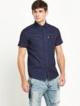 Mens Oblivion Stripe Shirt - Denim